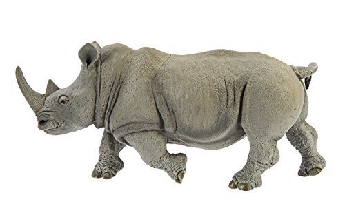 (Safari Ltd Wildlife Wonders - White Rhino - Realistic Hand Painted Toy Figurine Model - Quality Construction from Safe and BPA Free Materials - For Ages 3 and Up - Large)