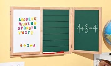 Dj Tafel Kind : Aufklappbare kinder spieltafel mit kreide und magnetbuchstaben
