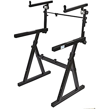 on stage ks7365ej pro heavy duty folding z keyboard stand with 2nd tier musical. Black Bedroom Furniture Sets. Home Design Ideas