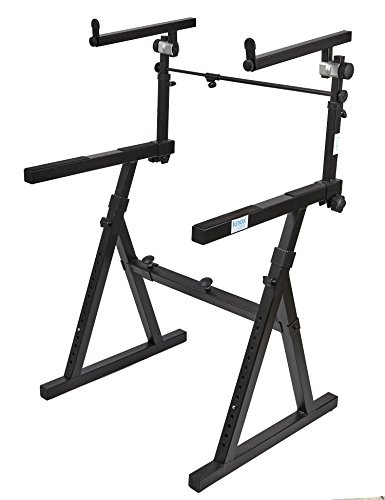Knox Gear Z-Style Two Tier Electronic Keyboard Piano Stand by Knox