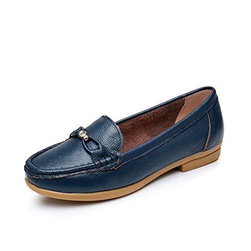 otoño de cómodas Antideslizantes Casual Maternidad Zapatos de Planos Trabajo Zapatos de Zapatos Baja Oficina FLYRCX Zapatos de Cuero Boca Damas Sueltos Primavera Moda de de C y TBPxwqxOf