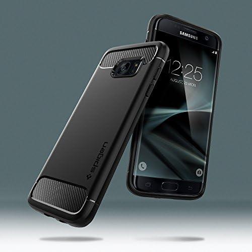 Spigen Rugged Armor diseñado para Samsung Galaxy S7 Edge Case (2016) - Negro
