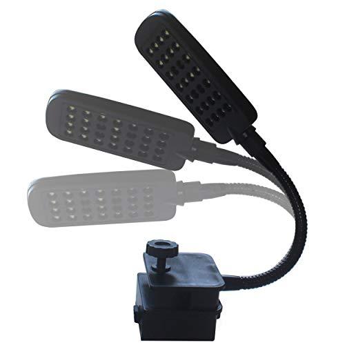 CNluca Acuario Clip Que Enciende la luz del Tanque de Peces de 28 LED para Agua Dulce de Agua Salada Marina Full Spectrum