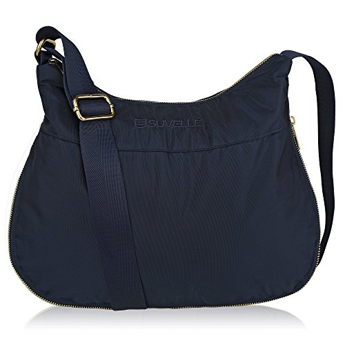 Suvelle Lightweight Hobo Travel RFID Blocking Expandable Crossbody Bag Multi Pocket Shoulder Handbag BA20