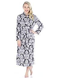 PajamaMania Women's Sleepwear Fleece Long Robe
