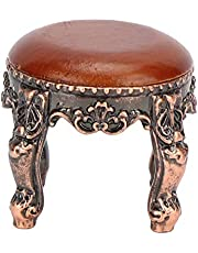 Doll House Round Stool, Mini Furniture Bedroom Room Furniture Dollhouse Accessories Kids Pretend Play Toy for 1:12 Doll House Kids Children(Round Stool)