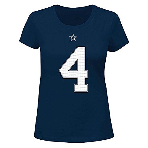 Dak Prescott Dallas Cowboys #4 Women's Plus Size Player T-shirt (Plus 4X)