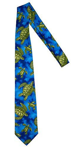 Hawaii Neckties - Blue Sea Turtle