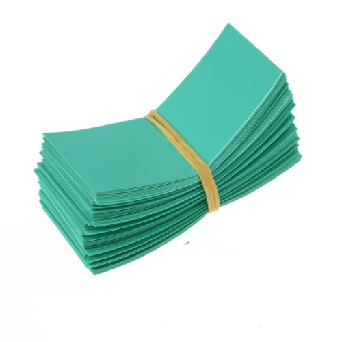 200pcs Green Color PVC Heat Shrink Tubing Tube For 18650 18500 Battery Shrink Film 29.5mm 18.5mm