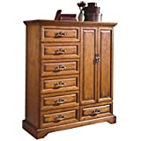 Haverhill Country 7 Drawer Magna Door Chest in Honey Oak Wood