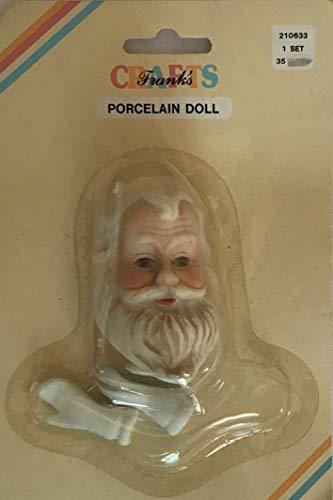 FRANK'S Craft Set of 1 Porcelain 'Santa' Doll Head 2-3/8
