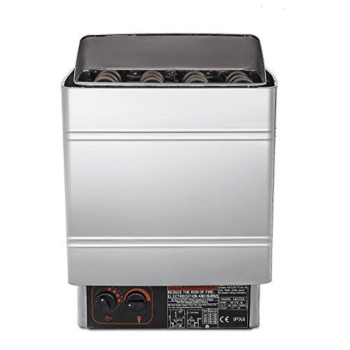 Happybuy Sauna Heater 6KW Electric Sauna Heater 220V-240V Sauna Stove with Internal Controller for 176.5-317.8 Cubic Feet Home Hotel Sauna Room Spa Shower