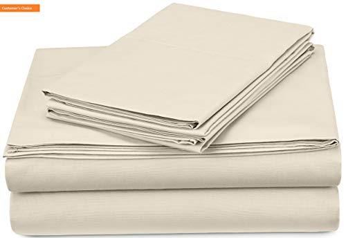 Mikash New Soft Pinzon 300-Thread-Count Percale Sheet Set - Full, Ivory | Style 84598198