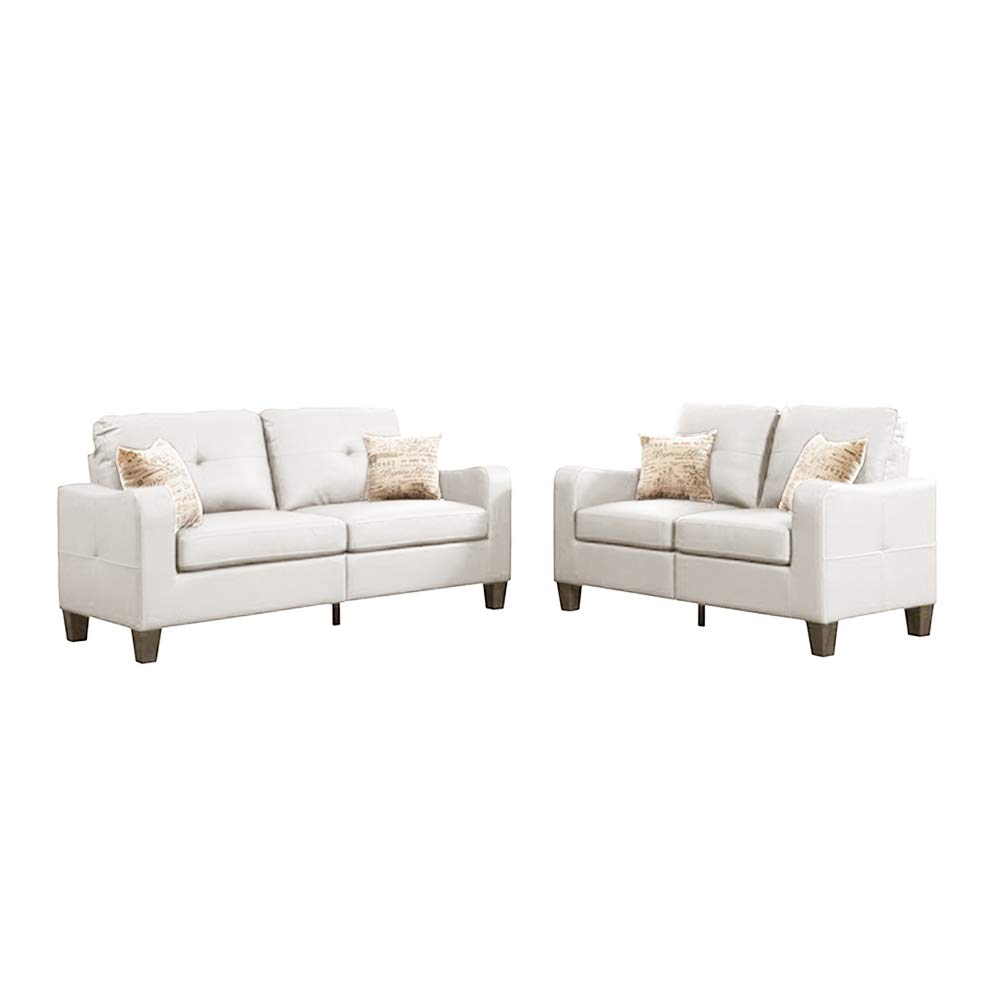 Enjoyable Amazon Com Sectional Sofa 2 Piece Set With Loveseat Faux Cjindustries Chair Design For Home Cjindustriesco