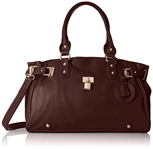 MG Collection Lucca Designer Inspired Glamour Shopper Tote Handbag, Coffee, One Size