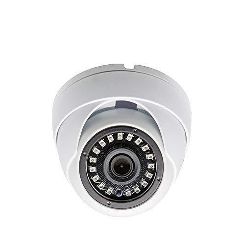 Evertech 1080p HD CCTV Dome Security Camera AHD TVI CVI Analog 3.6mm Fixed Lens Indoor & Outdoor White Metal Surveillance Camera