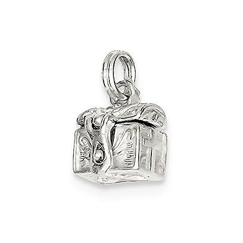 Roy Rose Jewelry Sterling Silver Cross Prayer Box Charm - Cross Prayer Box Charm