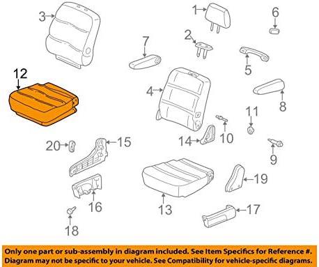 Middle Right Honda Genuine 81331-S0X-A21ZC Seat Cushion Trim Cover