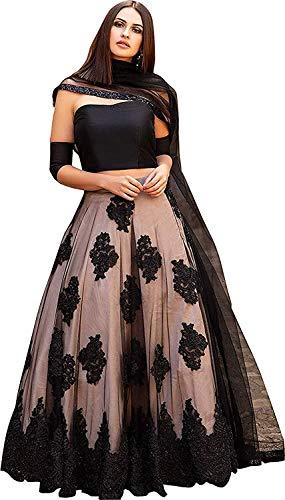 Nena Fashion Women's net Lehenga (J.K LENGHA CHOLI_ Multi-coloured_ FS)