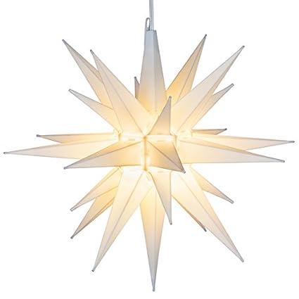 Amazon elf logic 21 large white moravian star bright elf logic 21 large white moravian star bright hanging outdoor christmas light workwithnaturefo