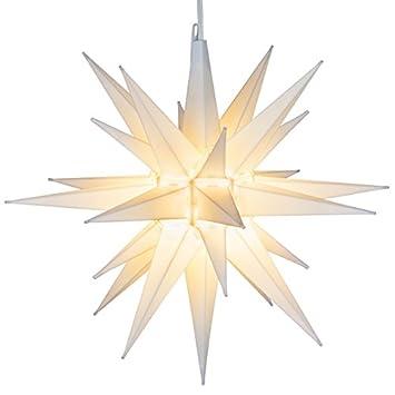 Amazon elf logic 21 large white moravian star bright elf logic 21 large white moravian star bright hanging outdoor christmas light aloadofball Images