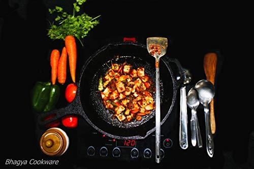 Bhagya Cast Iron Cookware Pre-Seasoned Skillet Frying Pan