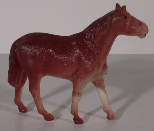 - Celluloid brown horse Made in Japan 1940s