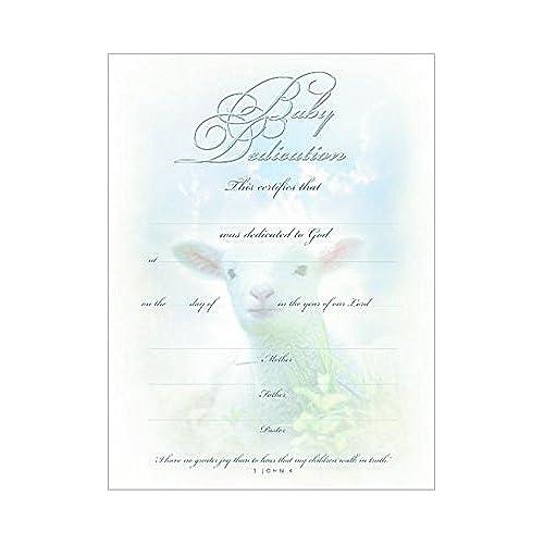 1 X Certificate Baby Dedication (6 Per Pkg) (Package Of 6)