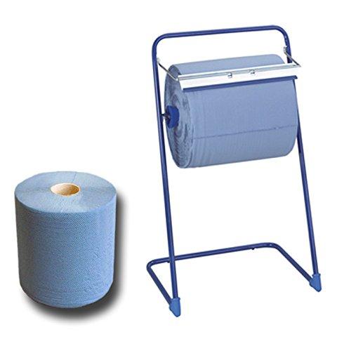 Putzrollenst/änder aus Metall 1 Putztuchrolle blau 3-lagig 1000 Blatt