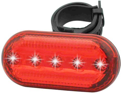 UPC 615953291414, SunBike(TM) 5 LED Safety Bicycle Rear Taillight Red & Blue (Red)