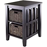 featured product Winsome Morris Side Table with 2-Foldable Basket