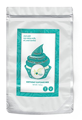 The Vegan Knife Gluten Free & Vegan Cupcake and Cake Mix Birthday Cake Flavor ()
