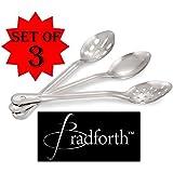 "(3-piece) Bradforth Stainless Steel Serving Spoon Set (11"")"