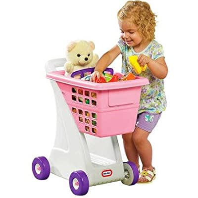 Little Tikes Shopping Cart, Pink With Sturdy walls,Deep basket,Fold-down seat and Plenty of storage underneath
