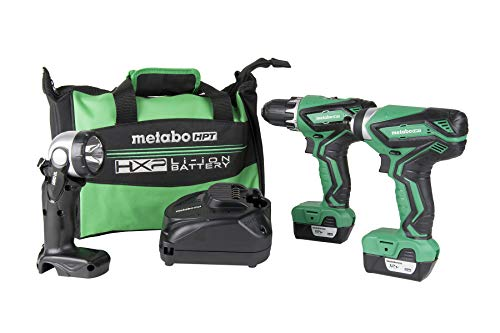 Metabo HPT KC10DFL2 12V Peak Cordless Combo Kit, Compact Driver Drill & Impact Driver, Includes 2-12V Lithium Ion Batteries, Flashlight, 40-Min Quick Charger & Carrying Bag, Lifetime Tool Warranty