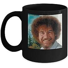 Bob Ross Beautiful Art Mug (Black) - Bob Ross Coffee Mug - 11-oz Bob Ross Quote Coffee Mug Cup - Funny Bob Ross Painting Quote Coffee Cup