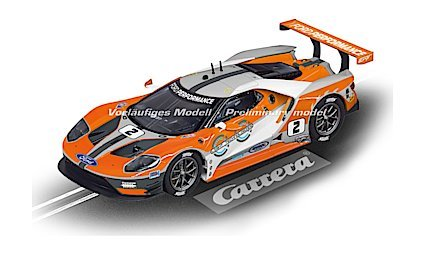 "Carrera 27547 Evolution Analog Slot Car Racing Vehicle - Ford GT Race Car ""No.02"" (1:32 Scale)"