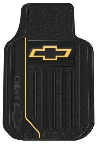 Chevy Chevrolet Gold Bowtie Logo Elite Series Front Seat Car Truck SUV Rubber Floor Mats