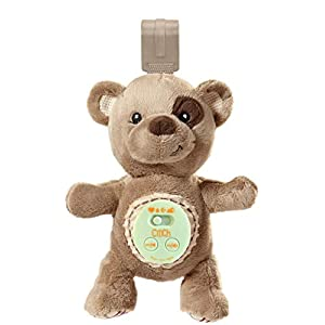 Cinch by dexbaby Plush Mini Bear – Sleep Aid Womb Sound Soother w/Playard and Crib Attachment