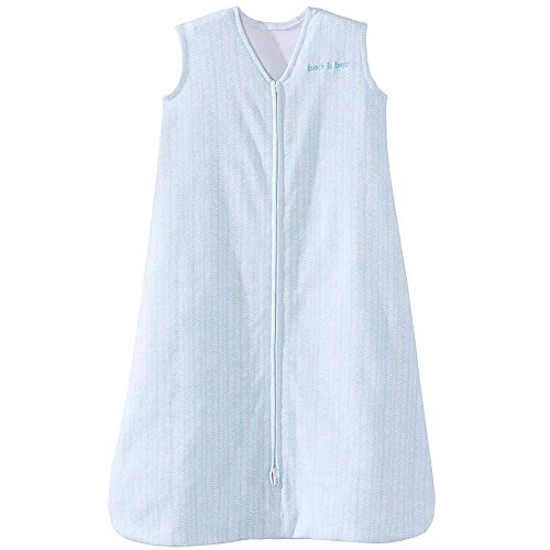 Halo Sleepsack 100% Cotton Wearable Blanket, Aqua Feather, Large ()