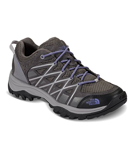 The North Face Women's Storm III Hiking Shoes - Dark Gull Grey and Marlin Blue - 9