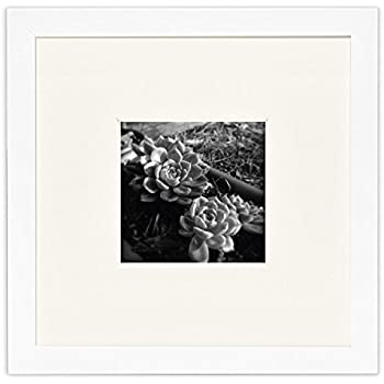 Amazon.com - Americanflat 8x8 White Picture Frame - Matted to Fit ...