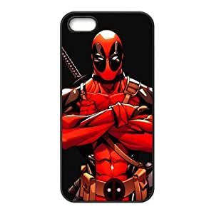 BESTER Deadpool Marvel Design Solid Rubber Customized Cover Case for iPhone 5s 5s-linda459