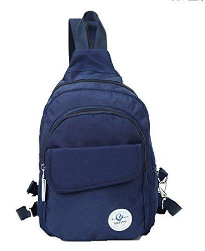 Odomolor Mujeres Lona Mochilas Daypack Picnic Casual Bolsas de Hombro,ROPBL181043 Azul