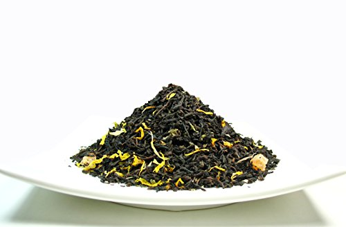 Peach Apricot Iced Tea, Ceylon Black Loose Leaf Tea blended with the essence of Apricot and Peach – 4 Oz Bag (Ceylon Blended Teas Tea)