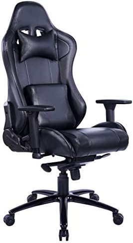 Gaming Chair Computer Chair PU Leather Desk Chair Video Game Chair Backrest and Seat Height Adjustablel