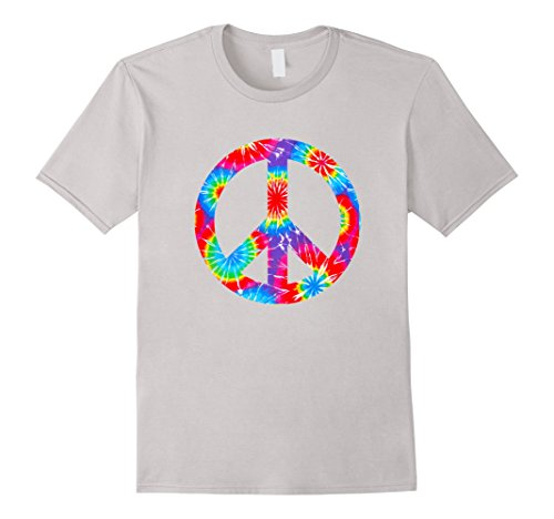 Tie Dye Flower Peace Sign T Shirt Hippy 60s 70s Costume