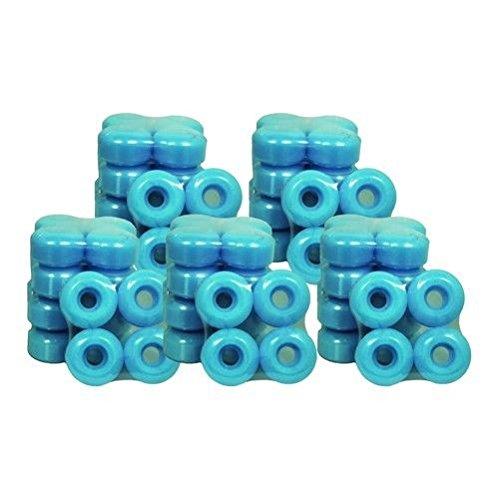 ヒール扱う符号25セットブランド空白スケートボードホイール50 mmライトブルー( 100ホイール)