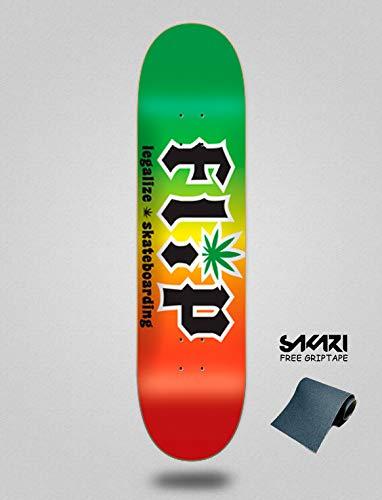 lordofbrands Monopatin Skate Skateboard Flip Deck HKD Legalize Rasta 8.25