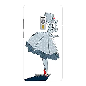 HomeSoGood Blushing Beauty Fashion White 3D Mobile Case For OnePlus 2 (Back Cover)